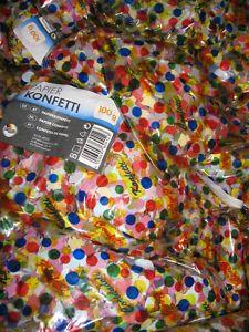 Konfetti Wurfmaterial bunt gemischt für Karneval Fasching Party Geburtstag Fest